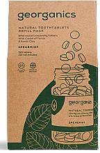 """Parfumuri și produse cosmetice Tablete pentru igiena orală """"Mentă"""" - Georganics Mouthwash Tablets Spearmint Refill Pack (rezervă)"""