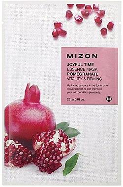 Mască de țesut cu extract de rodie - Mizon Joyful Time Essence Mask Pomegranate