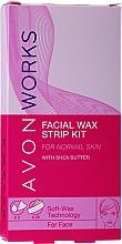 Parfumuri și produse cosmetice Benzi depilatoare pentru față - Avon Works For Face & Brown