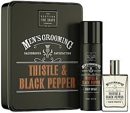 Parfumuri și produse cosmetice Scottish Fine Soaps Men's Grooming Thistle & Black Pepper - Set (edt/50ml + spray/150ml)