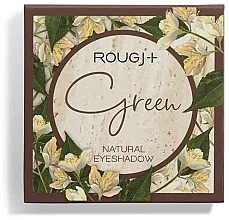 Parfumuri și produse cosmetice Paletă farduri de ochi - Rougj+ Green Natural Eyeshadow Palette