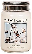 "Parfumuri și produse cosmetice Ароматическая свеча в банке ""Чистота хлопка"" - Village Candle Pure Linen"