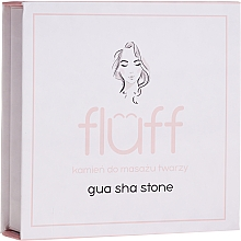 Духи, Парфюмерия, косметика Камень для массажа лица, розовый - Fluff Gua Sha Stone