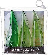 Parfumuri și produse cosmetice Set - Holika Holika Aloe Face And Body Care Set (foam/55ml + gel/55ml + sh/gel/55ml)