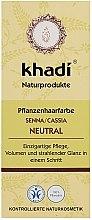 """Parfumuri și produse cosmetice Органическая маска-кондиционер для волос """"Нейтральная Хна"""" - Khadi Hair Conditioner"""