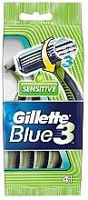 Parfumuri și produse cosmetice Set Aparat de ras de unică folosință, 4 buc - Gillette Blue 3 Sensitive