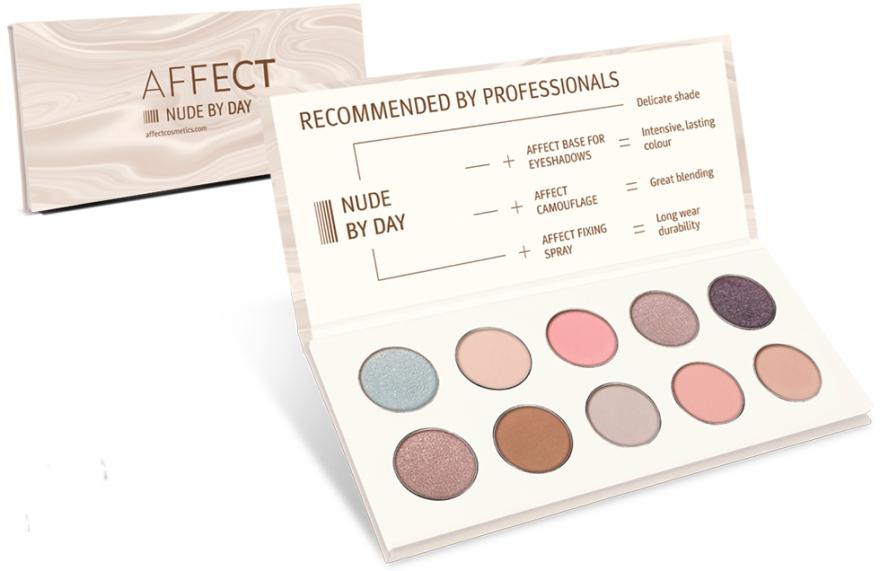 Paletă de Farduri de Pleoape - Affect Cosmetics Nude By Day Eyeshadow Palette