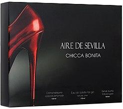 Parfumuri și produse cosmetice Instituto Espanol Aire de Sevilla Chicca Bonita - Set (edt/150ml + sh/gel/150ml + cr/150ml)