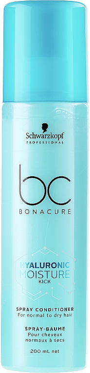 Balsam spray hidratant pentru păr normal spre uscat - Schwarzkopf Professional Bonacure Hyaluronic Moisture Kick Spray Conditioner