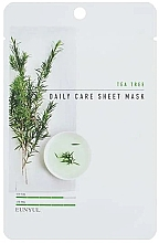 Parfumuri și produse cosmetice Mască de țesut cu arbore de ceai - Eunyul Daily Care Mask Sheet Tea Tree