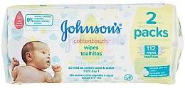 Parfumuri și produse cosmetice Șervețele umede 112buc. - Johnson's Baby Cotton Touch
