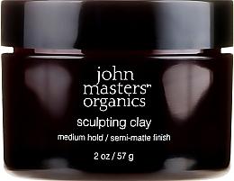 Parfumuri și produse cosmetice Argilă modelatoare cu efect matifiant pentru păr - John Masters Organics Sculpting Clay Medium Hold Matte Finish