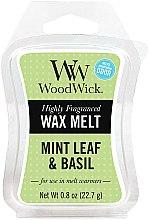 Parfumuri și produse cosmetice Ceară aromată - WoodWick Wax Melt Mint Leaf & Basil