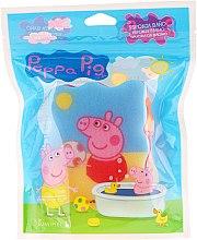 """Parfumuri și produse cosmetice Burete de baie pentru copii """"Peppa Pig"""", Peppa cu mingea - Suavipiel Peppa Pig Bath Sponge"""