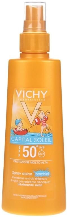 Spray de protecție solară pentru copii SPF 50+ - Vichy Capital Soleil Spray Douceur Enfants SPF50+ — Imagine N1