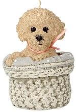 Parfumuri și produse cosmetice Lumânare parfumată, 11x17 cm, cățeluș bej - Artman Dog