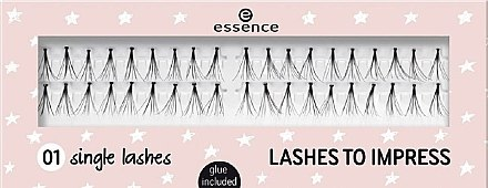 Gene false - Essence Lashes To Impress 01 Single Lashes