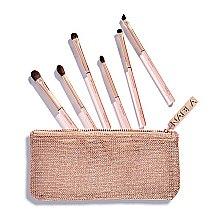 Духи, Парфюмерия, косметика Набор кисточек для макияжа в косметичке - Nabla Denude Eye Brush Set