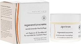 Parfumuri și produse cosmetice Восстанавливающий ночной крем для нормальной и сухой кожи - Apeiron Night Regeneration Cream