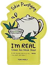 Parfumuri și produse cosmetice Mască din țesătură cu extract de ceai verde - Tony Moly I'm Real Green Tea Mask Sheet