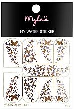 """Parfumuri și produse cosmetice Abțibilduri pentru unghii 5 """"Fluturi"""" - MylaQ My Water Sticker"""