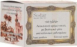 Parfumuri și produse cosmetice Cremă de noapte - Sostar Skin Whitening Night Cream with Organic Donkey Milk