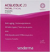 Parfumuri și produse cosmetice Fiole acțiune complexă cu acid glicolic - SesDerma Laboratories Acglicolic 20 Ampoules