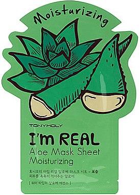 Увлажняющая тканевая маска - Tony Moly I'm Real Aloe — фото N1