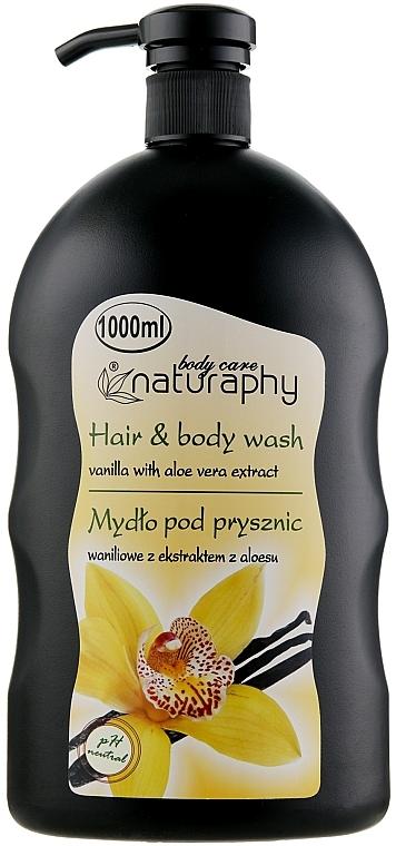"Șampon-gel de duș ""Vanilie și Aloe Vera"" - Bluxcosmetics Naturaphy Hair & Body Wash"