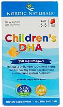 "Parfumuri și produse cosmetice Supliment alimentar pentru copii, căpșuni 250 mg ""Omega-3"" - Nordic Naturals Children's DHA"