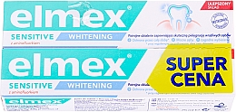 Parfumuri și produse cosmetice Set - Elmex Sensitive Whitening Toothpaste (toothpaste/2x75ml)