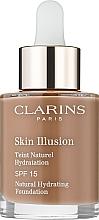 Духи, Парфюмерия, косметика Тональный крем для лица с SPF 15 - Clarins Skin Illusion Foundation SPF 15