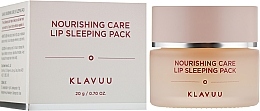 Parfumuri și produse cosmetice Mască de buze de noapte - Klavuu Nourishing Care Lip Sleeping Pack