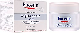 Parfumuri și produse cosmetice Cremă de față - Eucerin AquaPorin Active Deep Long-lasting Hydration For All Skin Types SPF 25 + UVA
