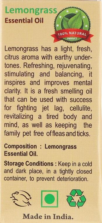 "Ulei esențial ""Lemongrass"" - Sattva Ayurveda Lemongrass Essential Oil — Imagine N3"