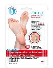 Parfumuri și produse cosmetice Mască-peeling pentru picioare - Dermo Pharma Skin Repair Expert S.O.S. Exfoliating & Cell Recovery Foot Mask