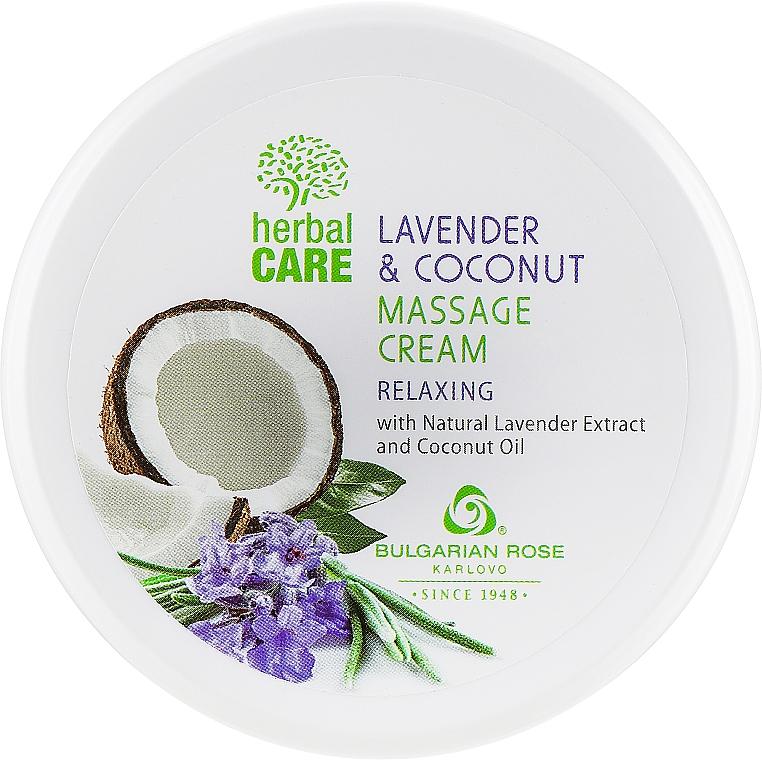 Массажный крем с релаксирующим эффектом - Bulgarian Rose Herbal Care Lavender & Cococnut Massage Cream — фото N1