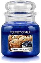 Parfumuri și produse cosmetice Lumânăre aromată în suport de sticlă  - Country Candle Blueberry Muffin