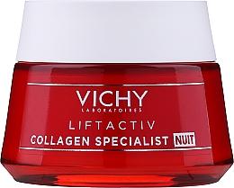 Parfumuri și produse cosmetice Cremă cu colagen de noapte pentru față - Vichy LiftActiv Collagen Specialist Night