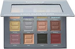 Parfumuri și produse cosmetice Paletă farduri de ochi - Bellapierre 12 Color Pro Jewel Eye Palette