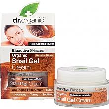 Parfumuri și produse cosmetice Gel-cremă cu extract de mucină de melc pentru față - Dr. Organic Bioactive Skincare Snail Gel Cream