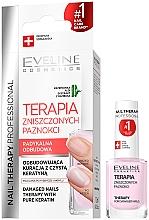Parfumuri și produse cosmetice Întăritor pentru unghii - Eveline Cosmetics Nail Therapy Professional Therapy For Damage Nails