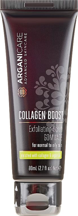 Scrub pentru față - Arganicare Collagen Boost Exfoliating Scrub — Imagine N2