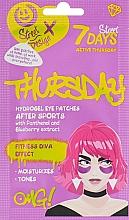 "Духи, Парфюмерия, косметика Patch-uri ""Active Thursday"" cu extract de pantenol și afine - 7 Days Hydrogel Eye Patches"