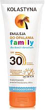 Parfumuri și produse cosmetice Emulsie pentru bronz - Kolastyna Family Suncare Emulsion SPF 30