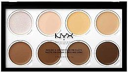 Parfumuri și produse cosmetice Paletă de nuanțe pentru conturul feței - NYX Professional Makeup Highlight & Contour Cream Pro Palette