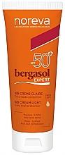 Parfumuri și produse cosmetice BB cream SPF50+ - Noreva Laboratoires Bergasol Expert BB Cream Light SPF50+
