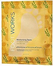 Parfumuri și produse cosmetice Mască-șosete cu extract de ananas și arbore de ceai pentru picioare - Avon Foot Works Mask For Legs
