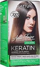 Parfumuri și produse cosmetice Set pentru îndreptarea părului cu cheratină - Kativa Keratin Anti-Frizz Xtra Shine (h/mask/150ml + shmp/30ml + h/cond/30ml)