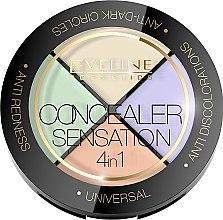 Parfumuri și produse cosmetice Paletă makeup corector pentru față - Eveline Cosmetics Concealer Sensation 4in1